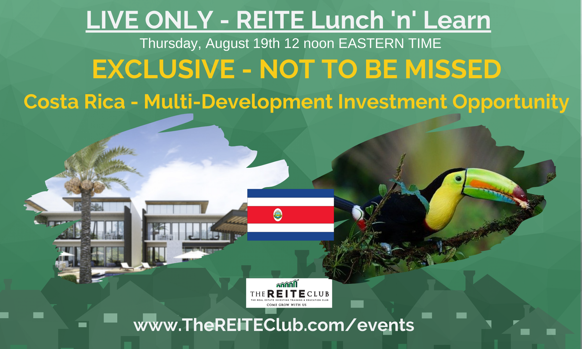 Lunch 'n' Learn Exclusive - Costa Rica Multi-Development Opportunities!