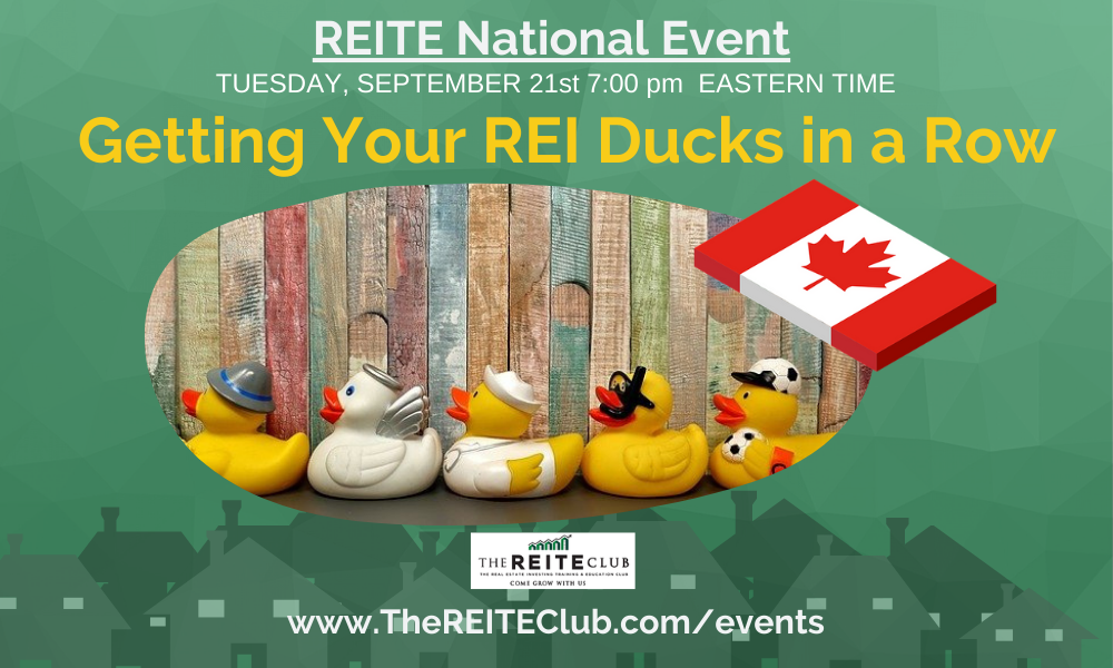 Getting Your REI Ducks in a Row