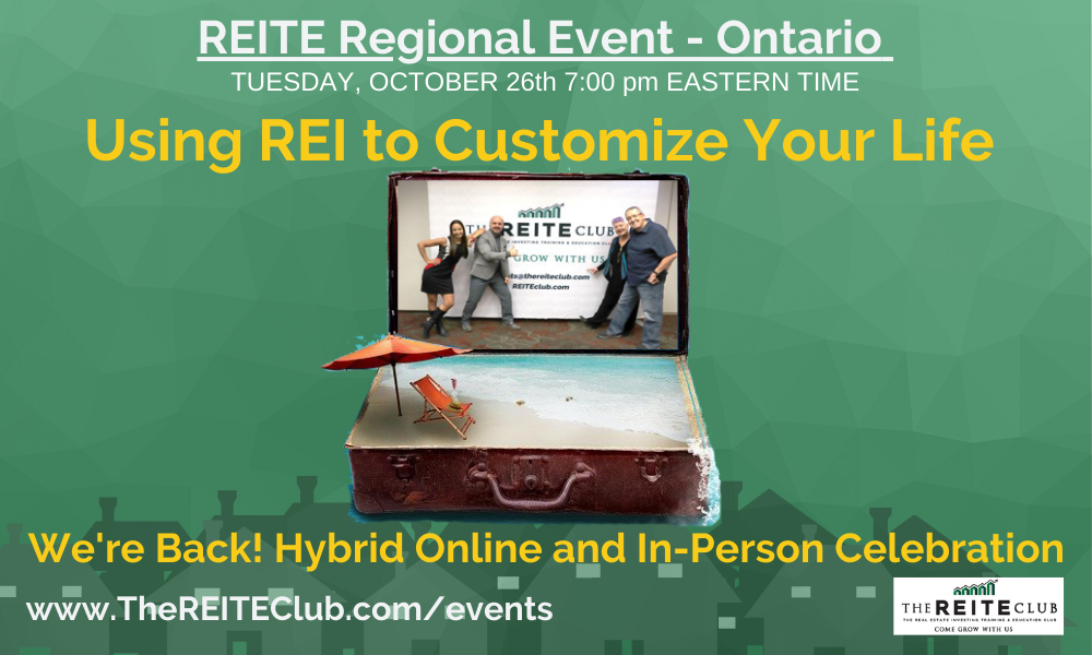 Using REI to Customize Your Life We're Back!! LIVE and in-person Celebration